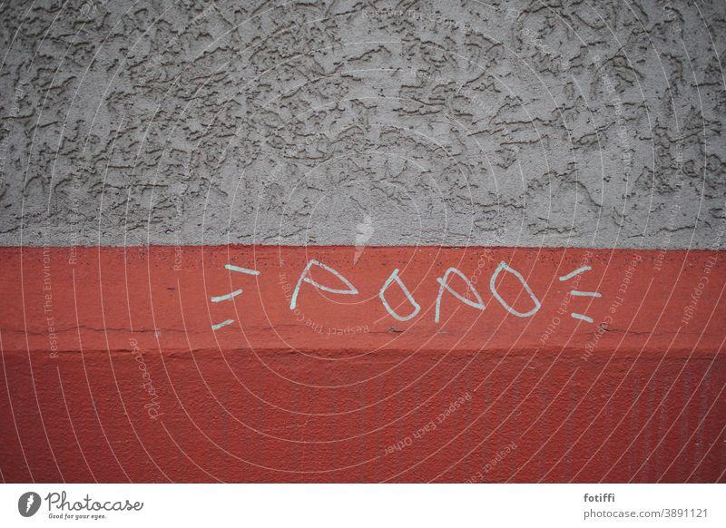 Die Lager derzeit? Fürn... Graffiti Popo Wand Hauswand Schriftzeichen Botschaft Stadt Fassade Text Wort Buchstaben Außenaufnahme Schmiererei Menschenleer Arsch