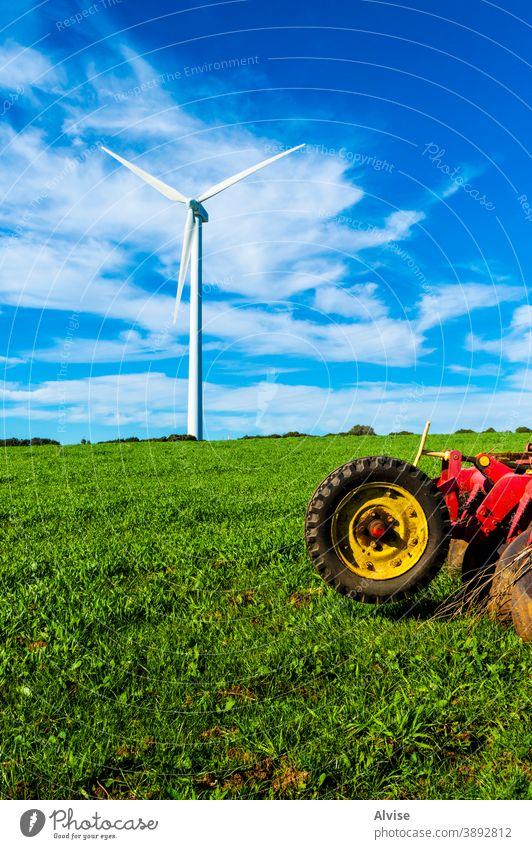 Mensch und Natur Kraft Elektrizität Turbine Umwelt Technik & Technologie alternativ Energie Windmühle Erzeuger regenerativ Industrie elektrisch umgebungsbedingt