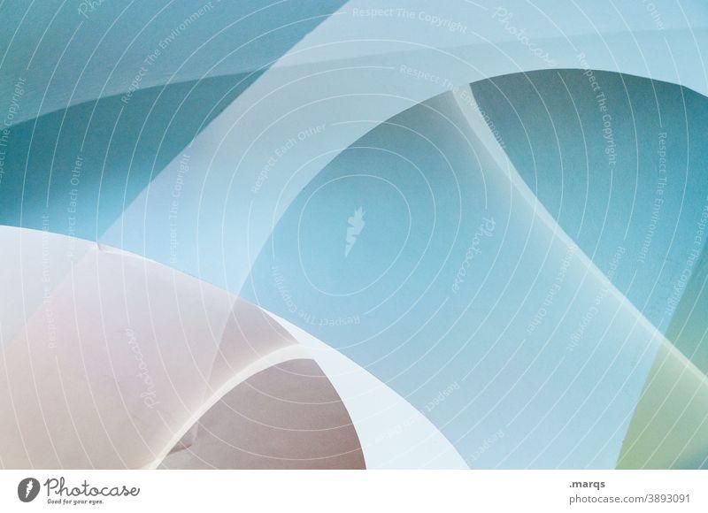 Doppeltes Gewölbe (3800) Doppelbelichtung abstrakt Grafik u. Illustration hellblau Schwung rund modern außergewöhnlich Stil Design Lifestyle Hintergrundbild