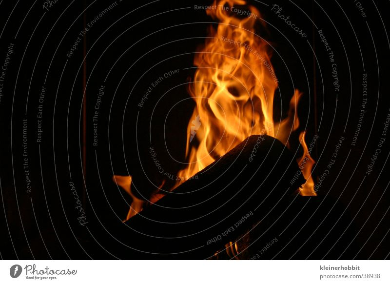 Ofenfeuer Holz Brand
