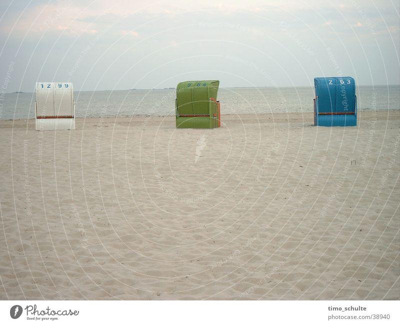 Strandkörbe Meer Ferien & Urlaub & Reisen Sand Europa Nordsee Strandkorb