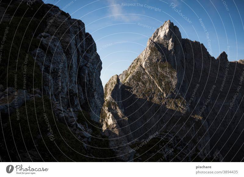 Berggipfel Gipfel Grimming Fels Natur Landschaft Berge u. Gebirge Alpen Außenaufnahme Felsen Farbfoto Umwelt Tag