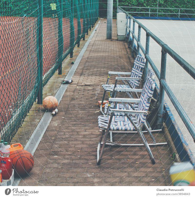 Leere Ränge am Fussballfeld Kicken Ballsport freizeitfußball Freizeit & Hobby freizeitaktivitäten Bälle Street streetstyle Streetball Streetphotography Ghetto