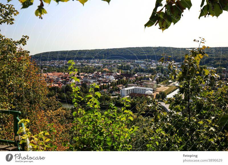 Panoramawanderweg Kelheim Altmühl Altmühltal Altstadt Ausflug Ausflugsziel Aussicht Aussichtsplattform Aussichtspunkt Bayern Deutschland Donau Europa Fernsicht