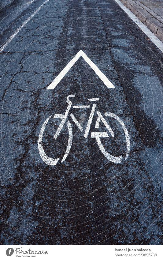 Fahrradampel auf der Straße Ampel Zyklus Fahrradsignal signalisieren Verkehrsgebot Ermahnung Großstadt Verkehrsschild Zeichen Symbol Weg Vorsicht Straßenschild