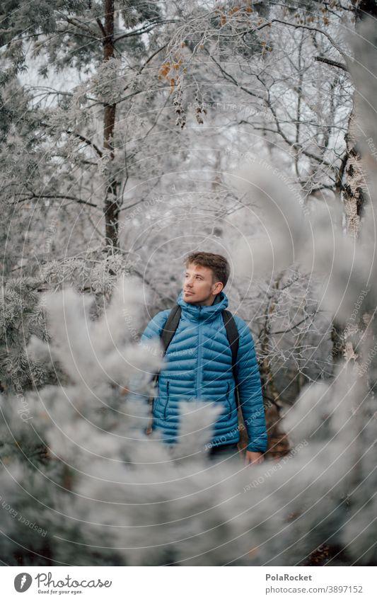 #A0# Winterwanderer am Winterwandern Reisender Ausflug Erholung Ausgleich Freiheit draußen Wandertag Tourismus Umwelt Wanderausflug Wanderer Farbfoto wanderlust