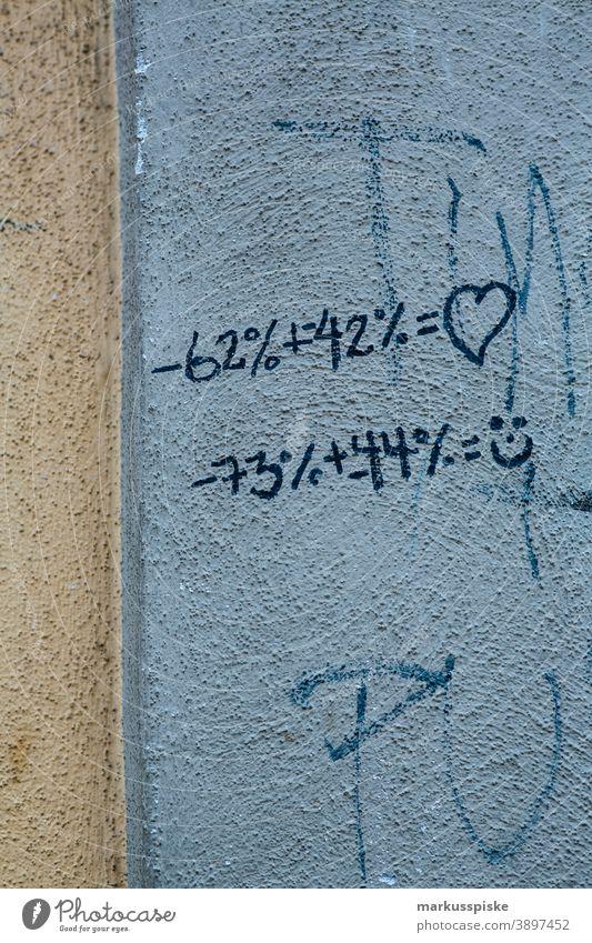 Graffiti Rechenaufgabe Tag abstrakt Kunst Motorhaube Großstadt abschließen farbenfroh Comic kreativ Abziehbild Versand Botschaft Schriftart Hoffnung horizontal