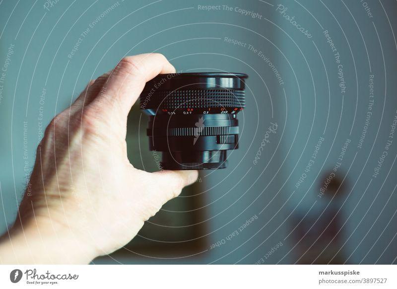 Vintage Retro-Objektiv 35mm analog Analogfilmaufnahme Fotokamera Design abgelaufener Film Filmmaterial Hype Leica R7 Linse Made in Germany negativ fotografie