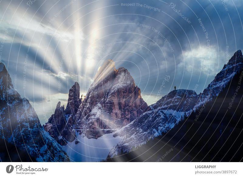 Südtirol, Alto Adige. Berge u. Gebirge wandern Außenaufnahme Gipfel Schneebedeckte Gipfel Alpen Landschaft Schönes Wetter Felsen Natur Dolomiten