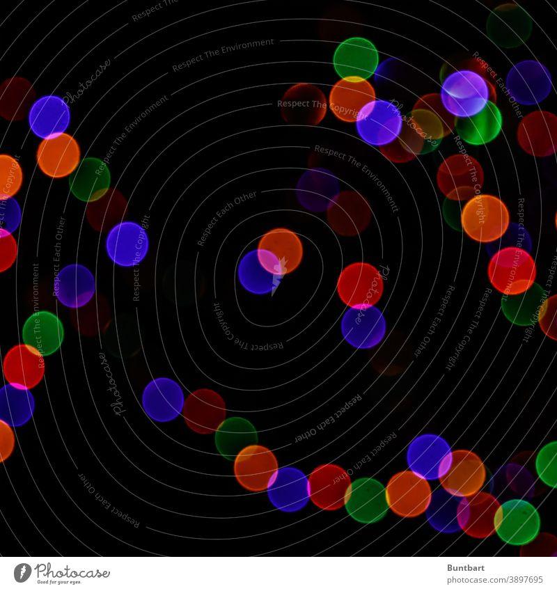 Weihnachtliche Farbkreise einer Lichterkette Farbe mehrfarbig Farbenspiel Weihnachten & Advent Weihnachtsdekoration Weihnachtsbaum Weihnachtsbeleuchtung