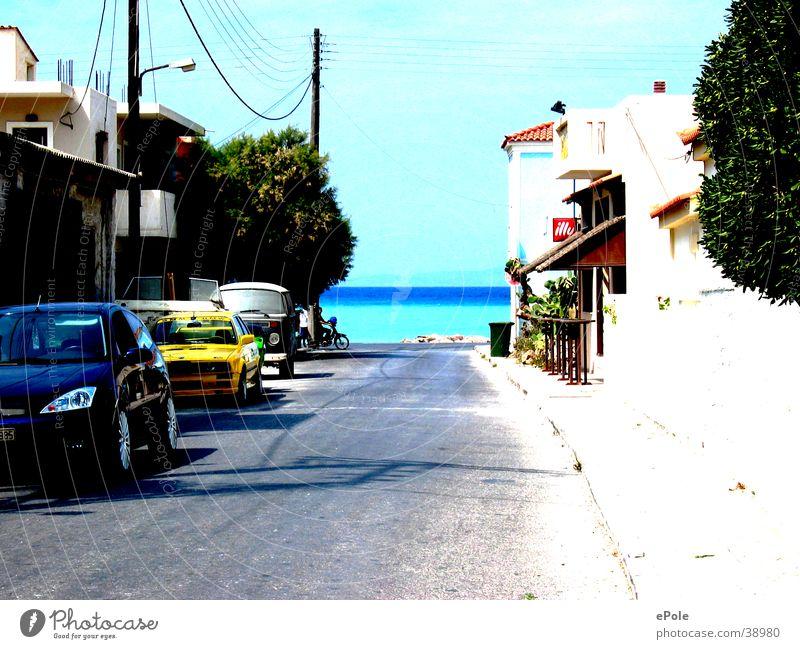 Weg zum Meer Straße Wege & Pfade Insel Griechenland Samos