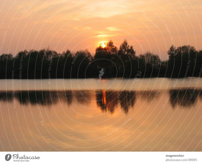 See / Abendsonne Wasser Sonne Sommerabend