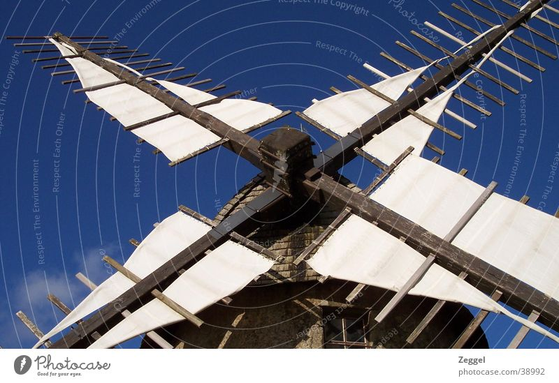 Moulin Himmel Haus Wolken Windmühle Mühle