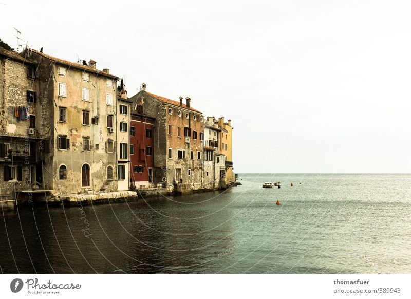 Rovinj Ferien & Urlaub & Reisen Tourismus Ferne Sightseeing Städtereise Sommer Sonne Strand Meer Schönes Wetter Küste Bucht Adria Kroatien Europa Kleinstadt
