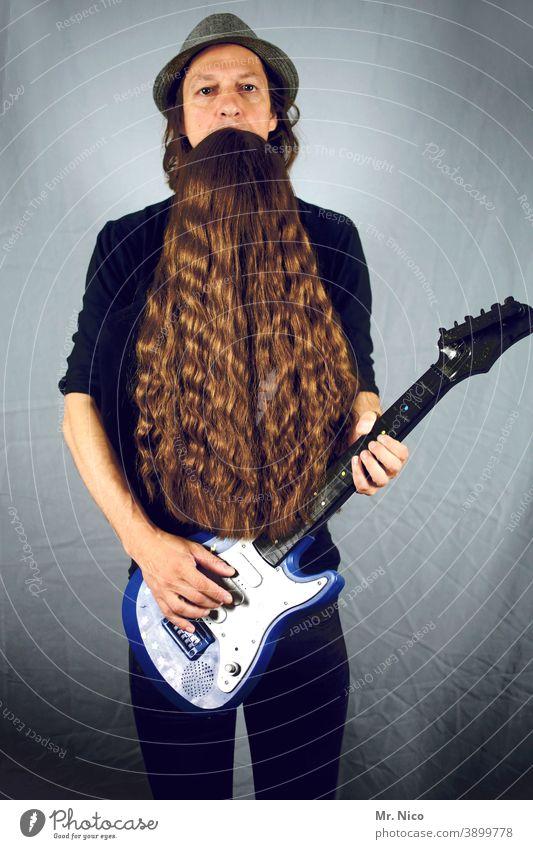 Illusion I optische Täuschung Lifestyle Haare & Frisuren Bart Vollbart außergewöhnlich Accessoire Coolness ZZ Top Rocker Rock 'n' Roll alternativ Stil