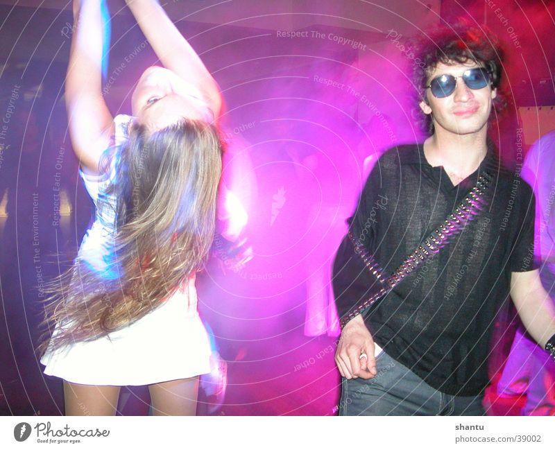 Partygirl Menschengruppe Haare & Frisuren Tanzen Disco Club Sonnenbrille Brille