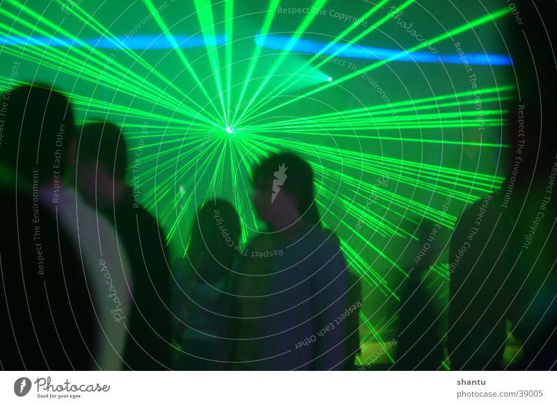 Laser Club Musik Menschengruppe Tanzen Techno