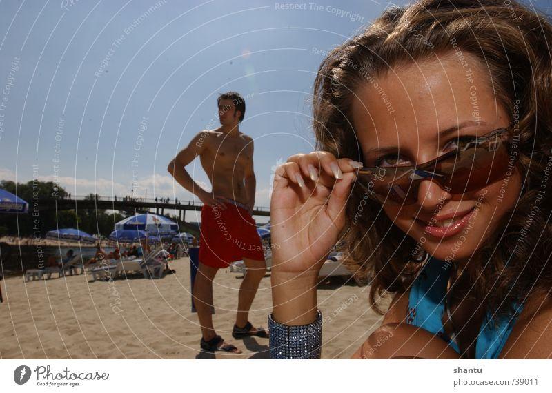 Oh Boy Frau Sonne Sommer Strand Brille Sonnenbrille Badehose
