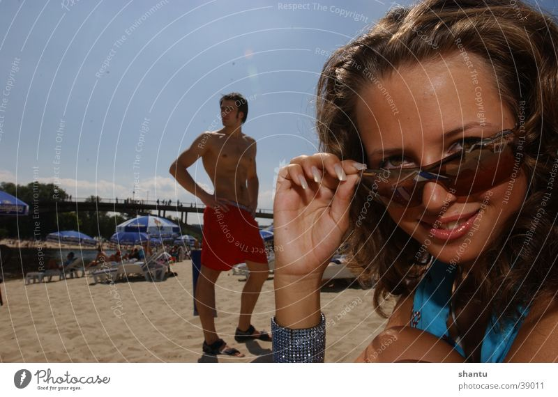 Oh Boy Strand Sonnenbrille Badehose Sommer Frau