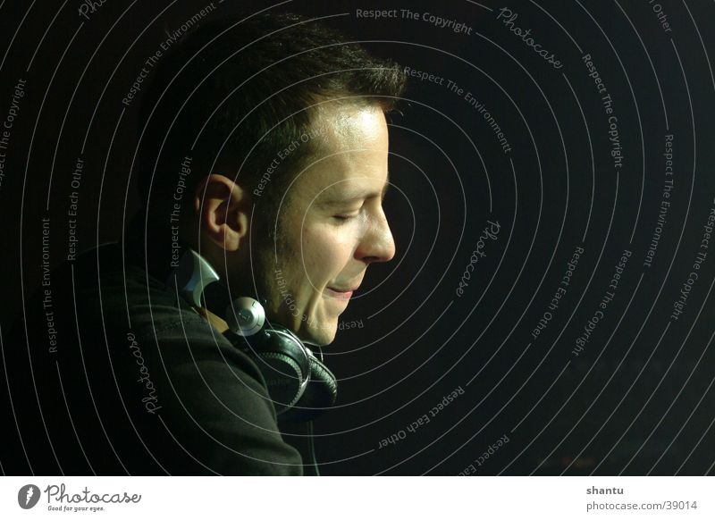 Mr. Dj Diskjockey Club Kopfhörer Mann Musik Tanzen