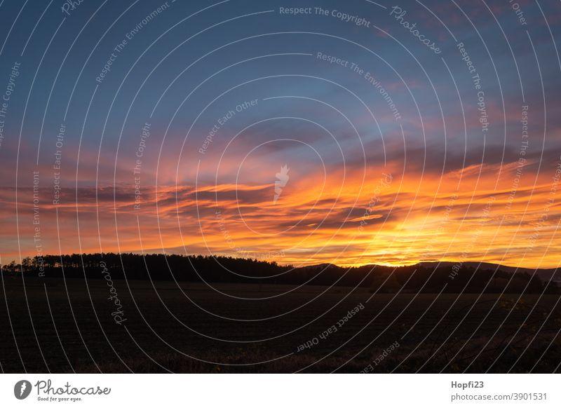Abendrot Sonnenuntergang Himmel Abenddämmerung Wolken Natur Dämmerung Landschaft Außenaufnahme Farbfoto Menschenleer Sonnenlicht Horizont Licht Umwelt