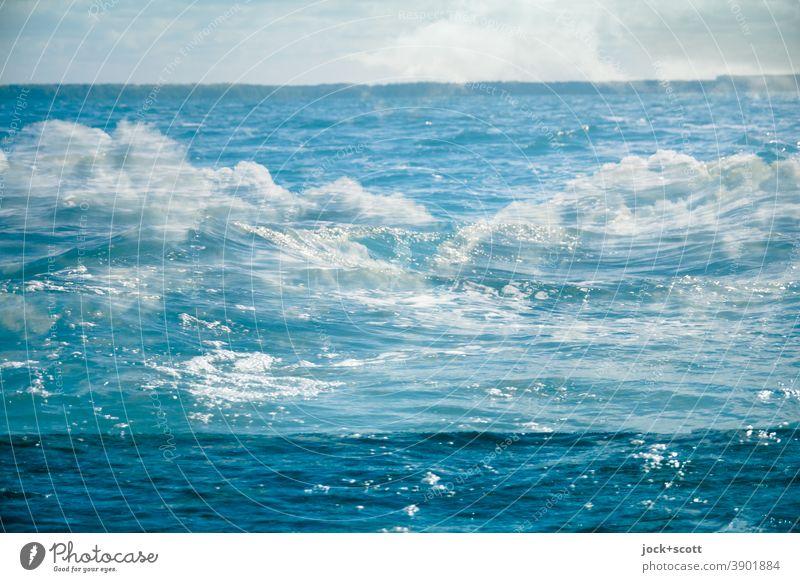 Wolken voll im See Doppelbelichtung Experiment Illusion Surrealismus abstrakt Schönes Wetter Reaktionen u. Effekte komplex Irritation Einigkeit Silhouette