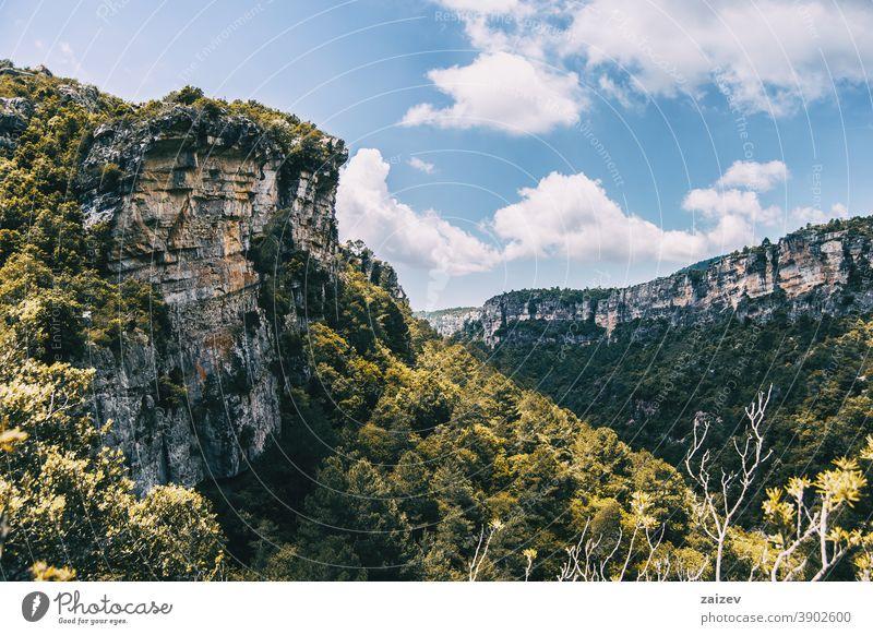Landschaft der Prades-Berge, in Tarragona, Spanien. la febró prades Katalonien ohne Menschen im Freien mittelgroß Textfreiraum Farbe horizontal Top Gesäß