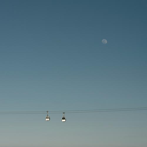 reise zum mond Ferien & Urlaub & Reisen Tourismus Ausflug Sightseeing Städtereise Sommerurlaub Himmel Wolkenloser Himmel Mond Vollmond Frühling Schönes Wetter