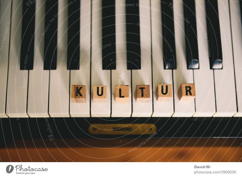 Musik und Kultur - Konzept Musikinstrument Konzert musikschule Gesellschaft (Soziologie) Corona Wort