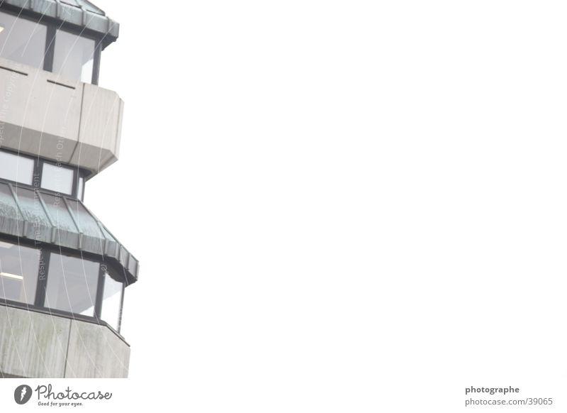 Leere Unendlichkeit weiß Etage leer Bibliothek Architektur Düsseldorf hell