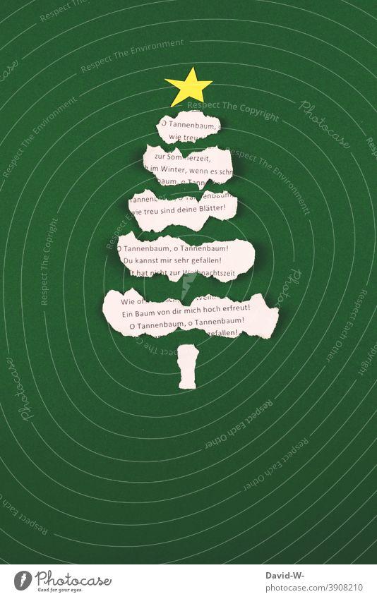 Weihnachten- Tannenbaum und Weihnachtslied Weihnachten & Advent weihnachtsbaum Weihnachtsdekoration weihnachtslied weihnachtlich Christbaum Tradition festlich