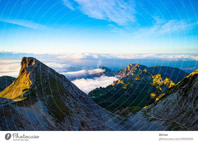 Gefühlsform Carega Landschaft Italien Veneto Himmel blau Natur Berge u. Gebirge Europa carega Italienisch Wiese Alpen malerisch Schönheit Panorama panoramisch