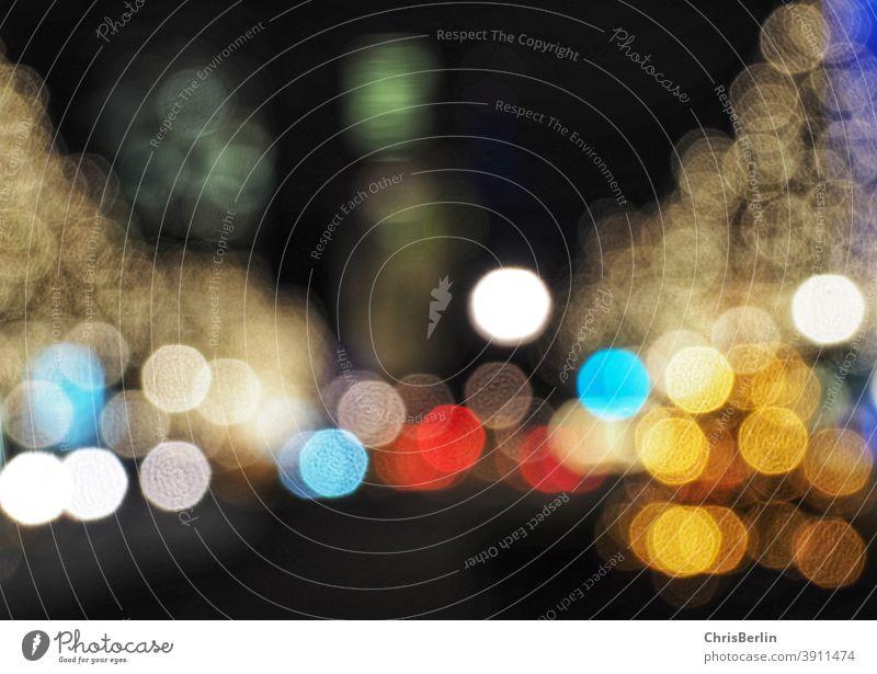 Weihnachtliches Berlin lichter Nacht Langzeitbelichtung dunkel Unschärfe Weihnachten & Advent Bokeh abstrakt festlich verschwommen glänzend Menschenleer