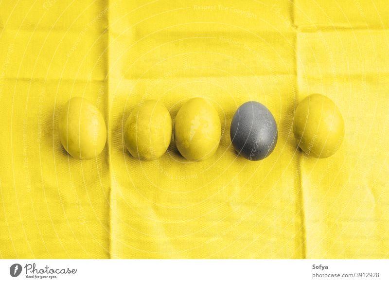 Ostern leuchtende gelbe und ultimativ graue Eier lichtvoll Farbe Jahr endgültig Feiertag Frühling anders hervorragend Design einzigartig Lebensmittel Pute