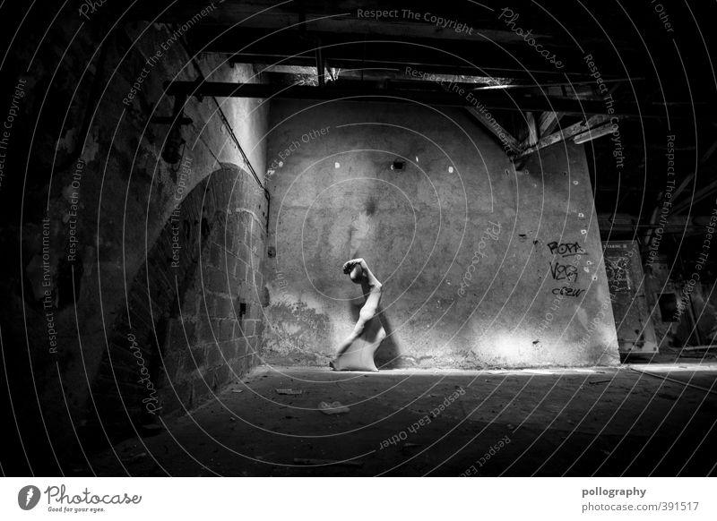 abstract bodies (25) Mensch feminin Junge Frau Jugendliche Erwachsene Leben Körper 1 18-30 Jahre Keller Kellergewölbe Mauer Wand Fenster Gefühle Kraft beweglich