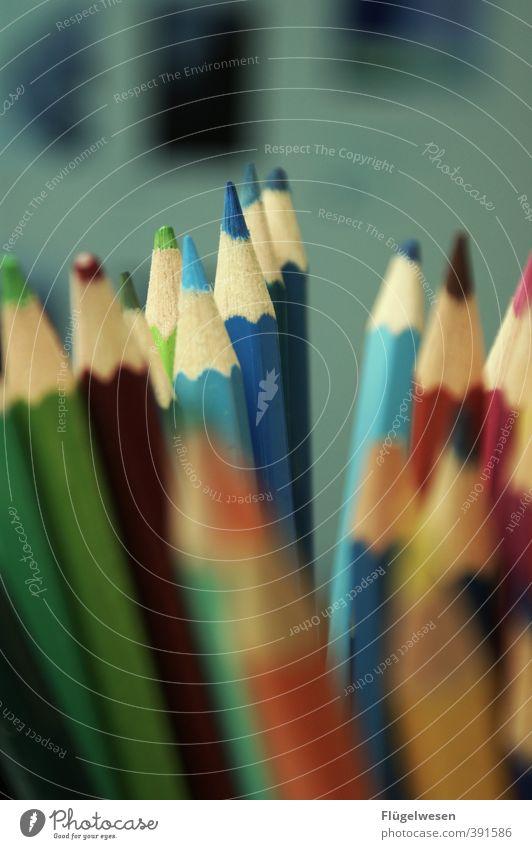 Malencia Bildung Kindergarten lernen Berufsausbildung Arbeitsplatz zeichnen malen streichen Farbstift Schreibstift Farbfoto Innenaufnahme Unschärfe