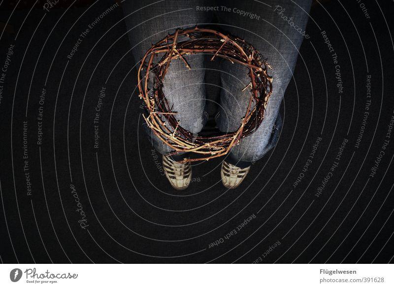 thorncrown Beine Fuß kämpfen Angst Todesangst Qual schuldig Sünde Sünder Jesus Christus Retter Dornenkrone Krone König Meister Rücken kreuzigen Auferstehung