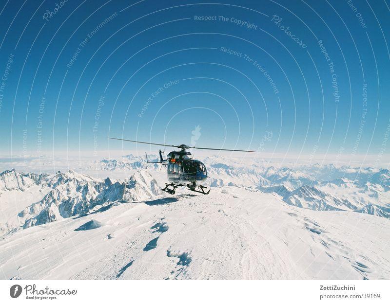 Heli on ice Schnee Berge u. Gebirge Luftverkehr Technik & Technologie Hubschrauber Elektrisches Gerät