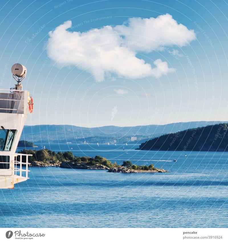 zwischenräume | schiffe, schären, wasserstraßen Schiff Schären Wasser Fjord Fähre Oslofjord Zwischenraum Wasserstraße Hafeneinfahrt Autofähre Norwegen