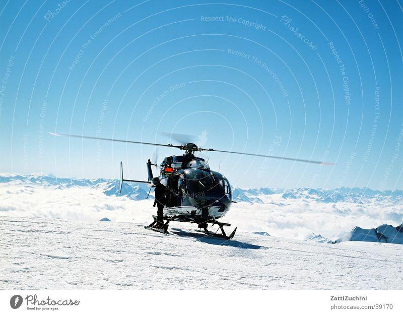 Hubi Schnee Berge u. Gebirge Technik & Technologie Hubschrauber Elektrisches Gerät Mont Blanc