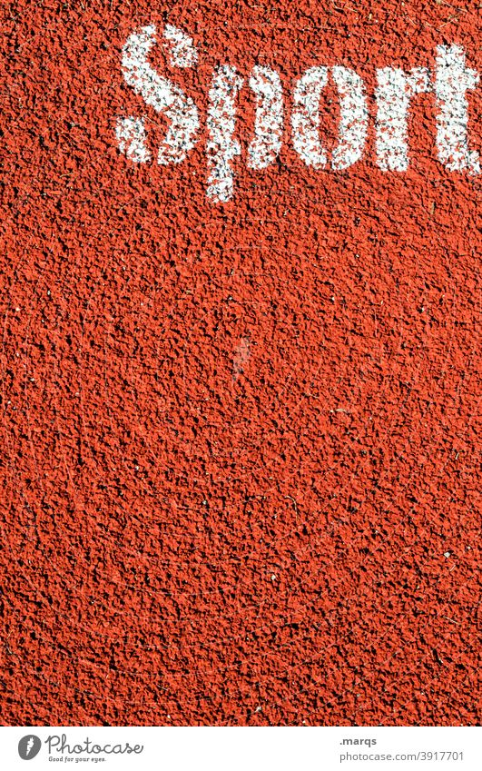 Sport Tartan Schriftzeichen Sportplatz Fitness Gesundheit Sportstätten Training Sportveranstaltung struktur