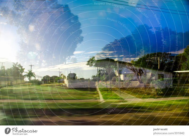 Long Walk Home Himmel Wolken exotisch Garten Outback Einfamilienhaus Ferien & Urlaub & Reisen Geschwindigkeit komplex Surrealismus Irritation Doppelbelichtung