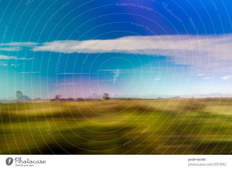 to go a long way round Freiheit Landschaft Wolken Horizont Schönes Wetter Gras Sträucher Outback Queensland Ferien & Urlaub & Reisen Ferne Geschwindigkeit Wärme