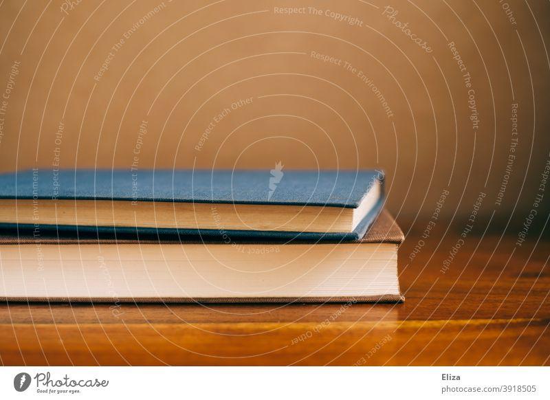 zwei Bücher liegen auf dem Tisch Buch lesen Literatur Lesestoff Roman