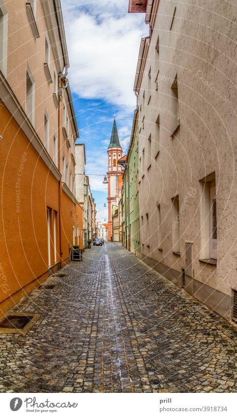 Straubing in Bavaria straubing stadt niederbayern deutschland architektur gebäude kultur tradition turm fußgängerzone altstadt sommer haus fassade hausfassade