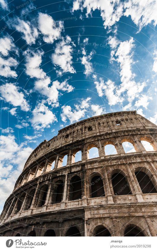 Kolosseum Collosseum Rom Italien Europa Architektur Wahrzeichen historisch Kultur antik Gebäude Stein Ruine Amphitheater Ferien & Urlaub & Reisen Römer Denkmal