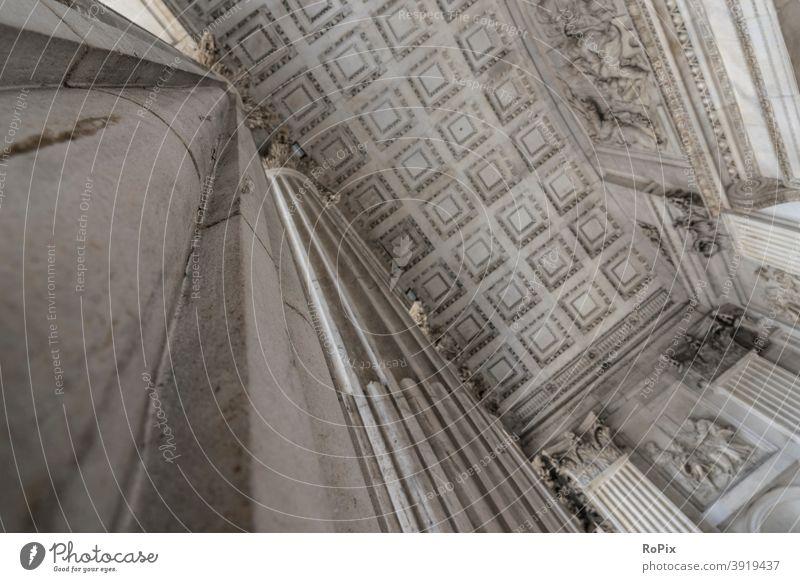Detail der St. Paul's Cathedral in London. England Kirche Nacht Jahrtausend Brücke Fußweg Fußgänger Kathedrale Altstadt urban Nachtleben Themse Fluss