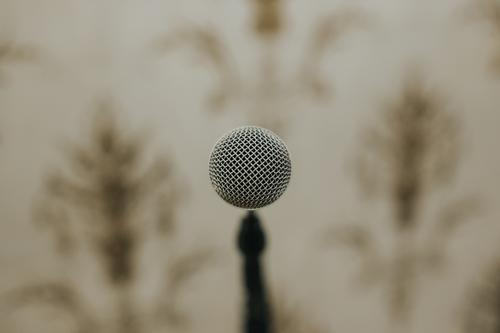 Nahbesprechungsmikrofon Mikrofon Klang Tontechnik Aufzeichnen Musik Musik hören Technik & Technologie Entertainment Medien Menschenleer Diskjockey schwarz retro