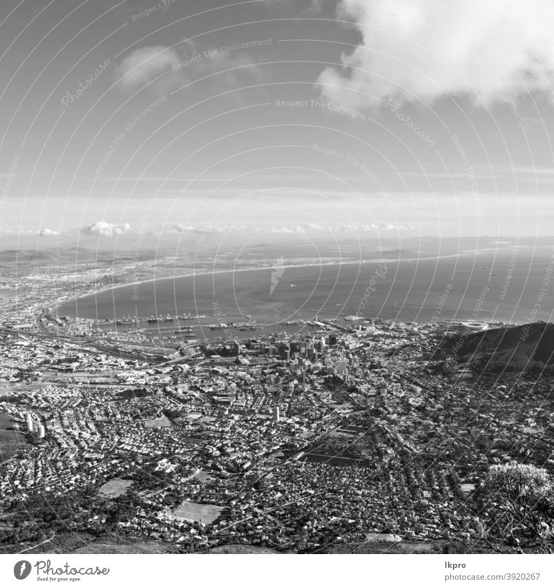 in Südafrika Stadtsilhouette vom Berg aus Kap Afrika Süden Großstadt Skyline Berge u. Gebirge Ansicht Stadtbild reisen Tisch urban Landschaft Himmel Afrikanisch