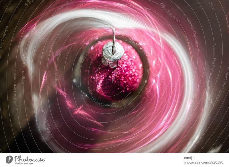 Christbaumkugel christbaumkugel Dekoration & Verzierung Weihnachten & Advent Weihnachtsdekoration glitzern pink Nahaufnahme Schwache Tiefenschärfe